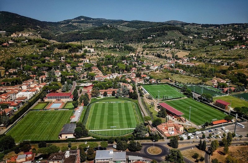 FLORENCE, ITALY - AUGUST 29: General view prior to the training session at the Italy club's training ground at Coverciano on August 29, 2017 in Florence, Italy. (Photo by Claudio Villa/Getty Images)